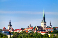 Skyline of Tallinn Old Town, Estonia